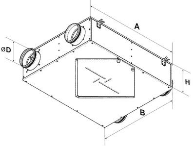 Чертеж вентиляционного агрегата