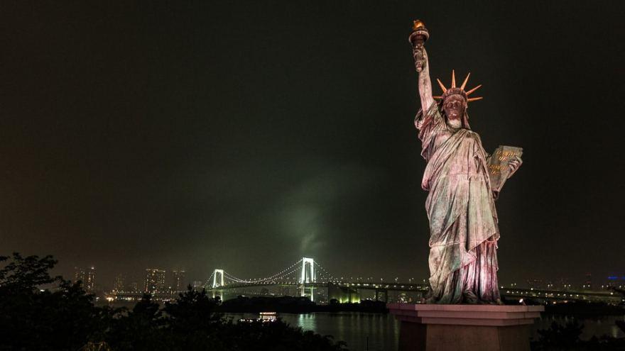 tokyo statue de la liberté
