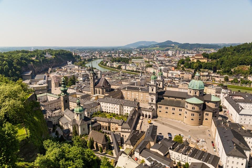 salzbourg vue vieille ville