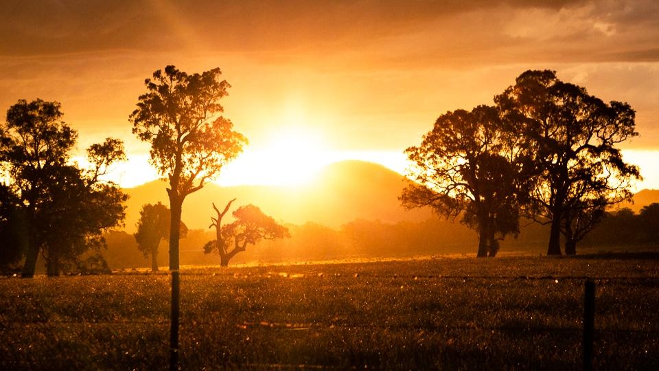 coucher soleil australie