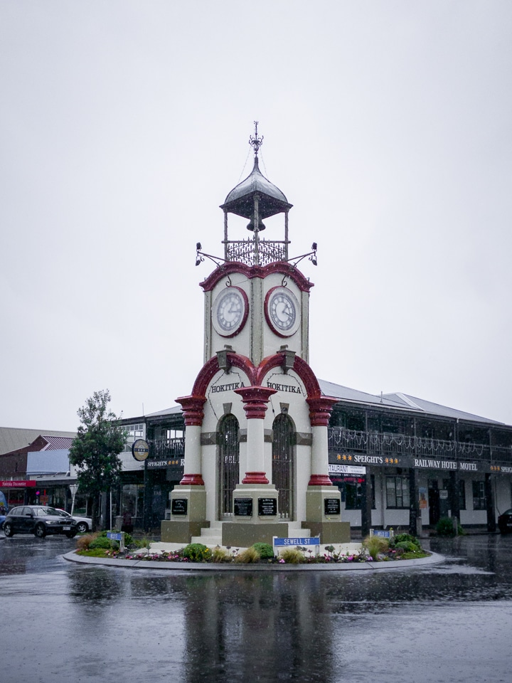 hokitika clock west coast south island