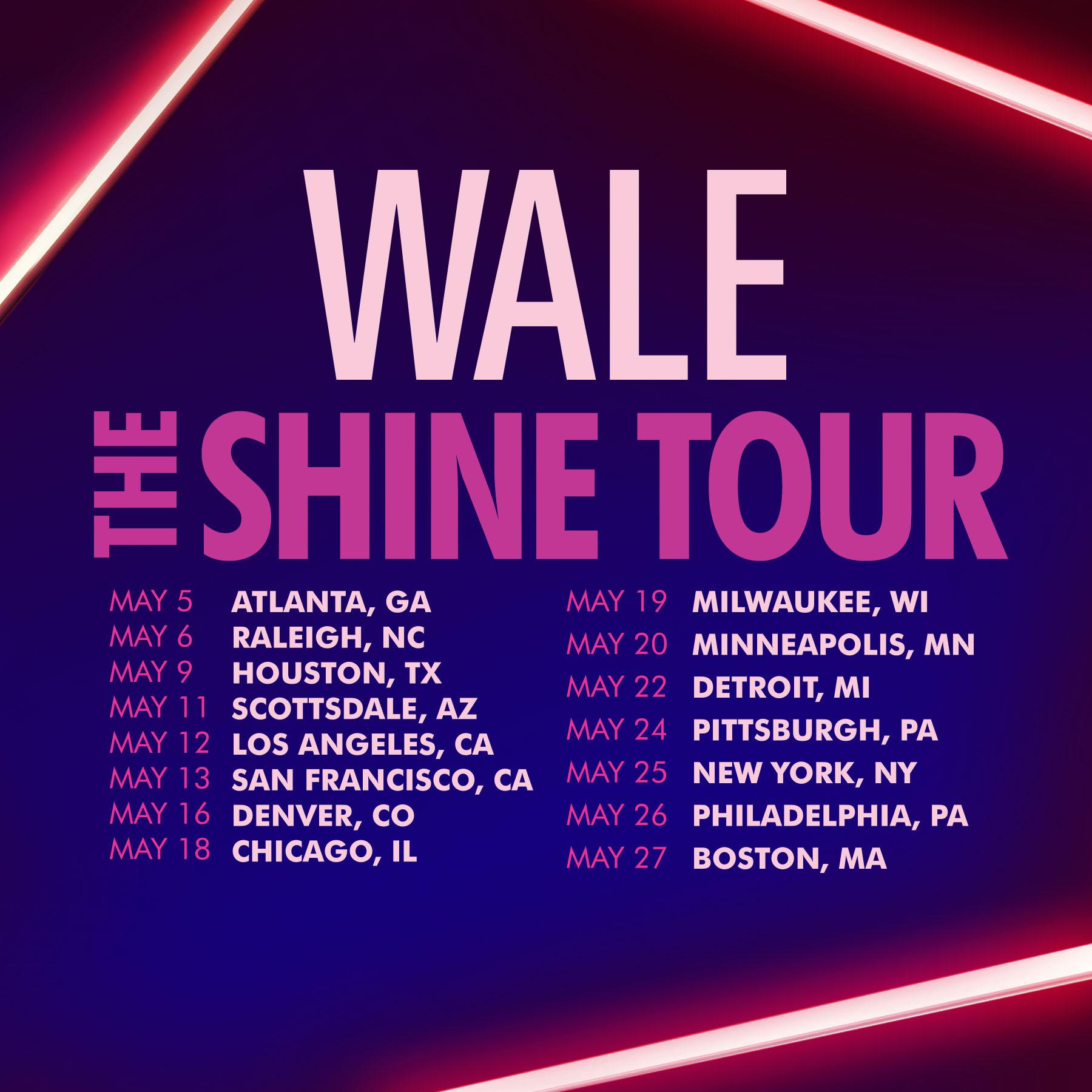Wale Announces The Shine Tour