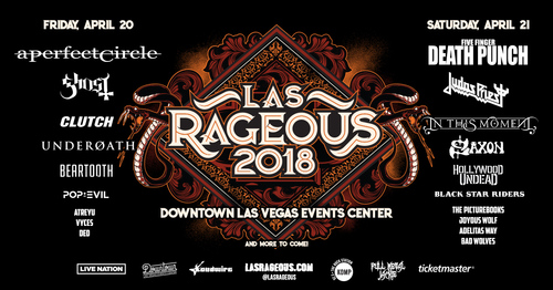 Las Rageous 2018 A Perfect Circle Five Finger Punch Ghost Judas Priest More Announced For 2nd Annual Fest April 20 21 In Las Vegas Nv