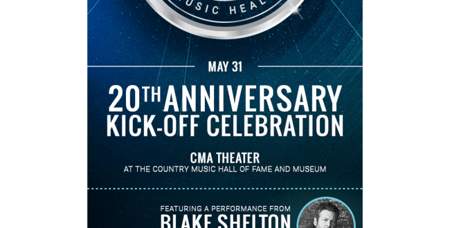 MUSICIANS ON CALL And Blake Shelton Team Up For Friday, May 31 Concert Kicking Off Organization's 20th Anniversary Celebrations