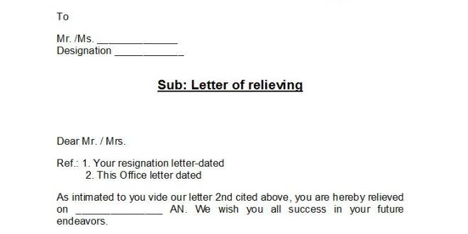 What is a Relieving Letter?