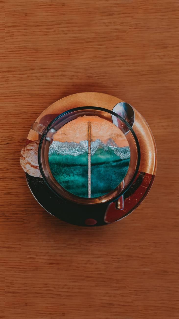 round brown decorative saucer
