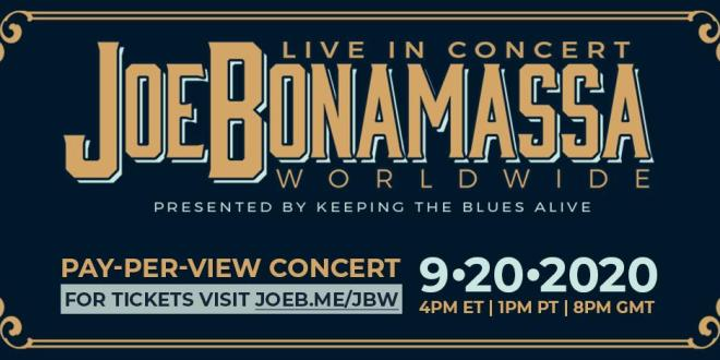 JOE BONAMASSA BRINGS NEW MUSIC TO FANS WITH ONE NIGHT ONLY PAY PER VIEW CONCERT EVENT LIVE-STREAMED FROM LEGENDARY RYMAN AUDITORIUM ON SEPT 20