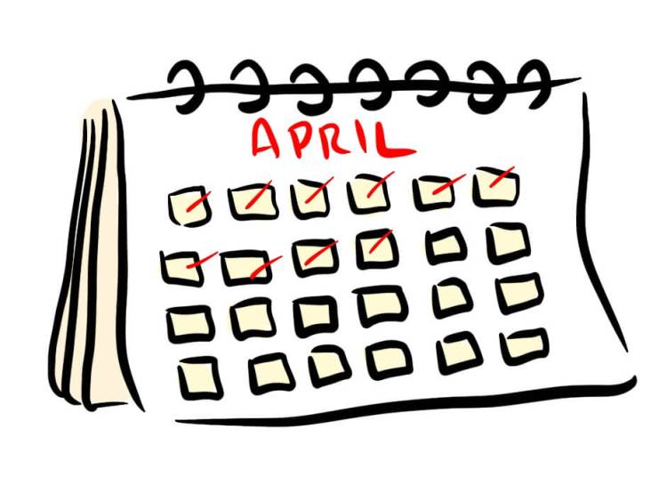 Cartoon of Calendar representing blogging daily
