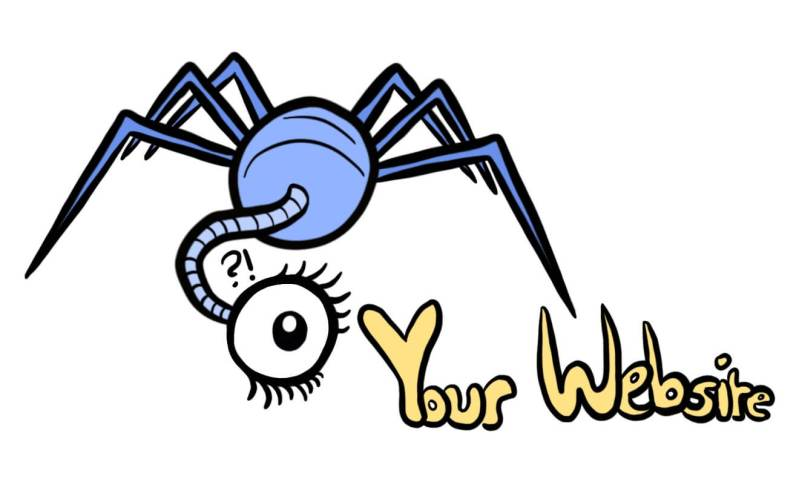 cartoon of a google web crawler