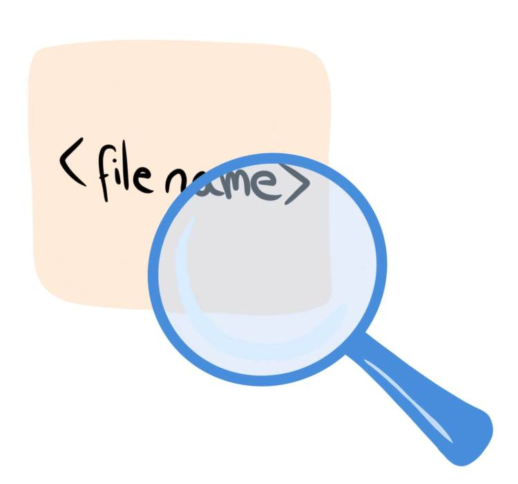 Picture of magnifying glass look at alt text