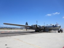 The B-29 FiFi on the tarmac at Camarillo Airport