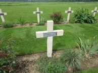 The stone cross of a French grave