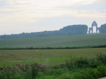 Thiepval Memorial and Thiepval wood from one mile away.