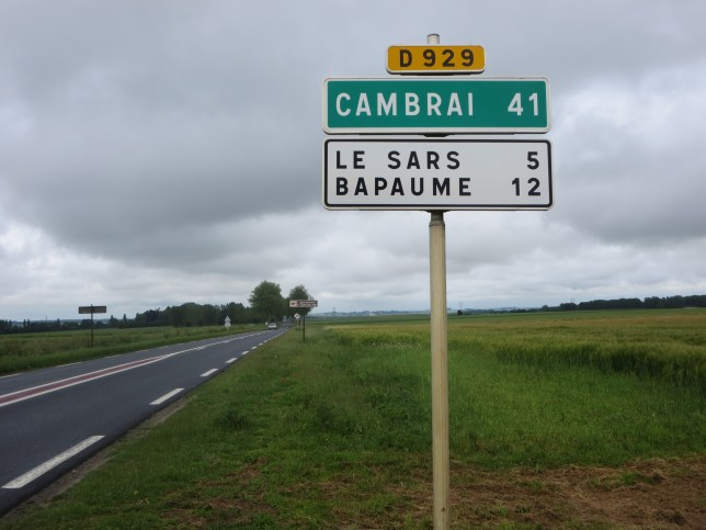To Green Fields Beyond. Cambrai lies to the north