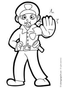 Free Printable Police officer coloring page