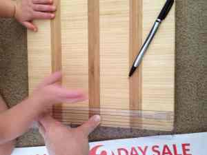 DIY Bamboo Chalkboard Tutorial