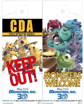 Free Printable Monsters Inc Door Hanger Craft