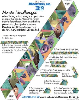 Free Printable Monsters Inc Activity Sheet