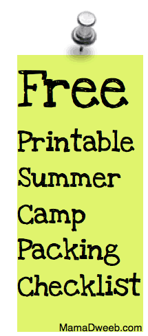 Two Free Summer Camp Packing Checklists