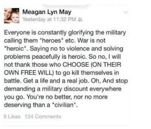 Meagan Lyn May Fired from movie theater for Facebook post
