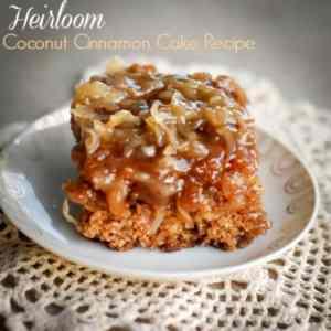 Heirloom Coconut Cinnamon Cake