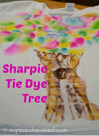 sharpie tie dyed