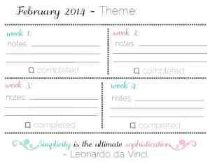 February Goals: Streamline {Free Printable Checklists}