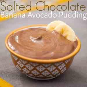 Salted Chocolate Banana Avocado Pudding