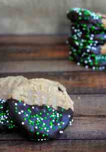 Gluten Free St. Patty's Day Peanut Butter Cookies