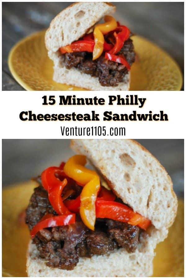 15 Minute Philly Cheesesteak Sandwich Recipe