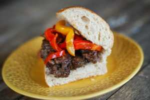 Clean & Easy Philly Cheesesteak Sandwich #15MinuteSuppers