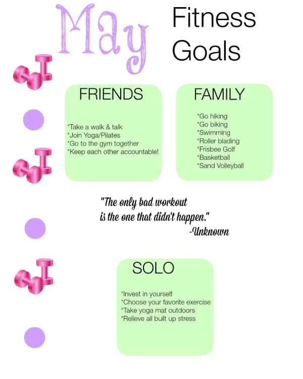May Printable Goals Printable