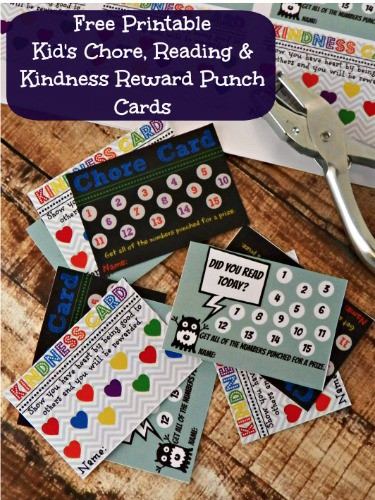 Chore Punch Card