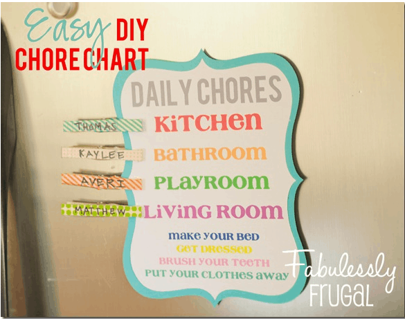 Super simple chore chart