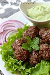 Greek-Meatballs-with-Avocado-Tzatziki-Sauce-from-Primally-Inspired
