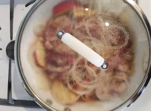 apple cider pork skillet