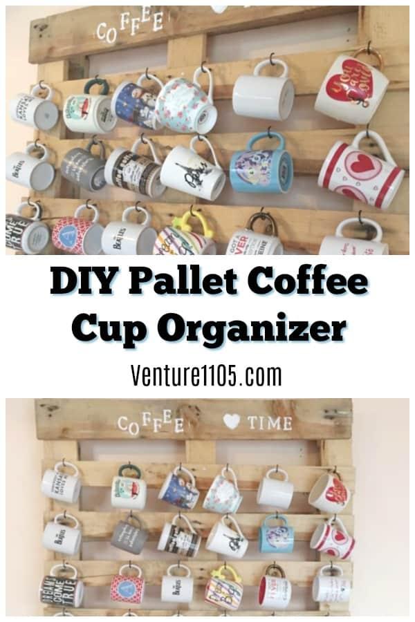 DIY Pallet Coffee Cup Organizer