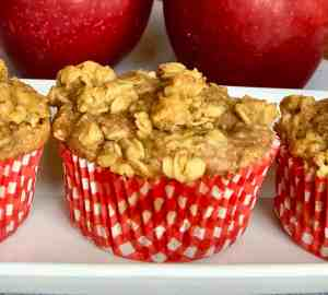 Apple Pie Muffins With Oatmeal Streusel Topping – 20 Minute Recipe!