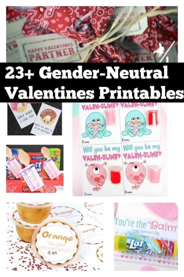 23 Gender Neutral Valentines Printables
