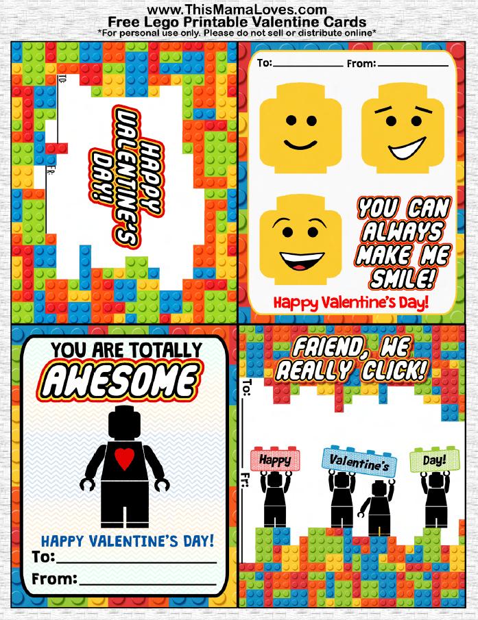 Free LEGO Valentines