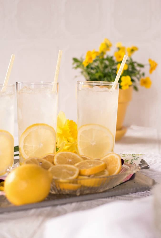 ice cold lemon water