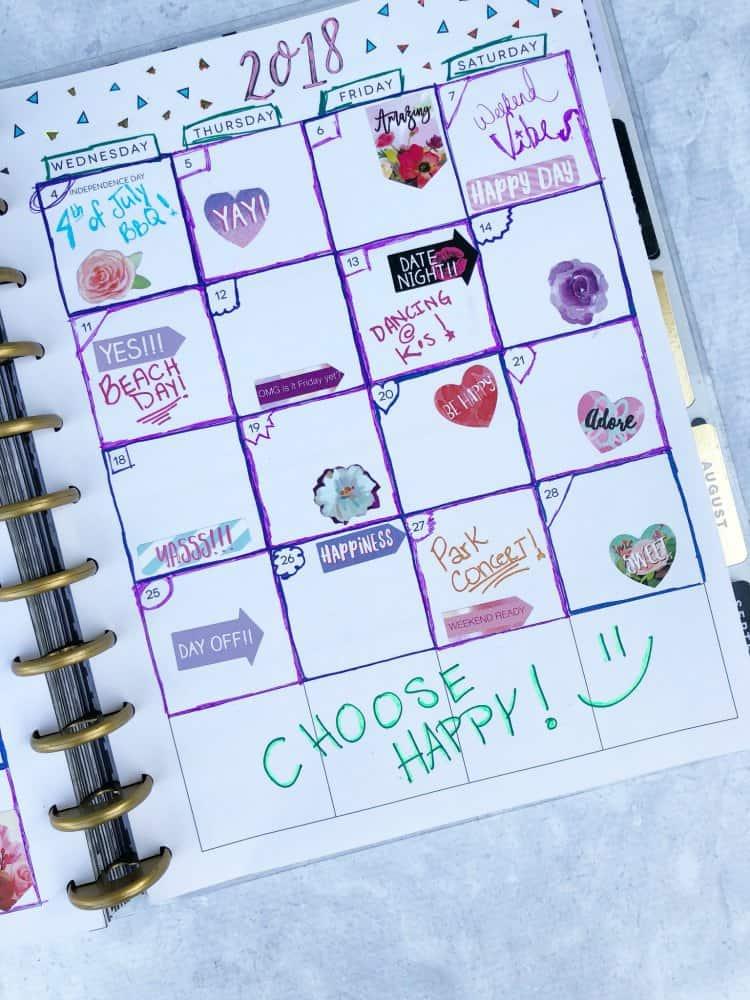 Pentel Pens POP DIY Planner Decoration