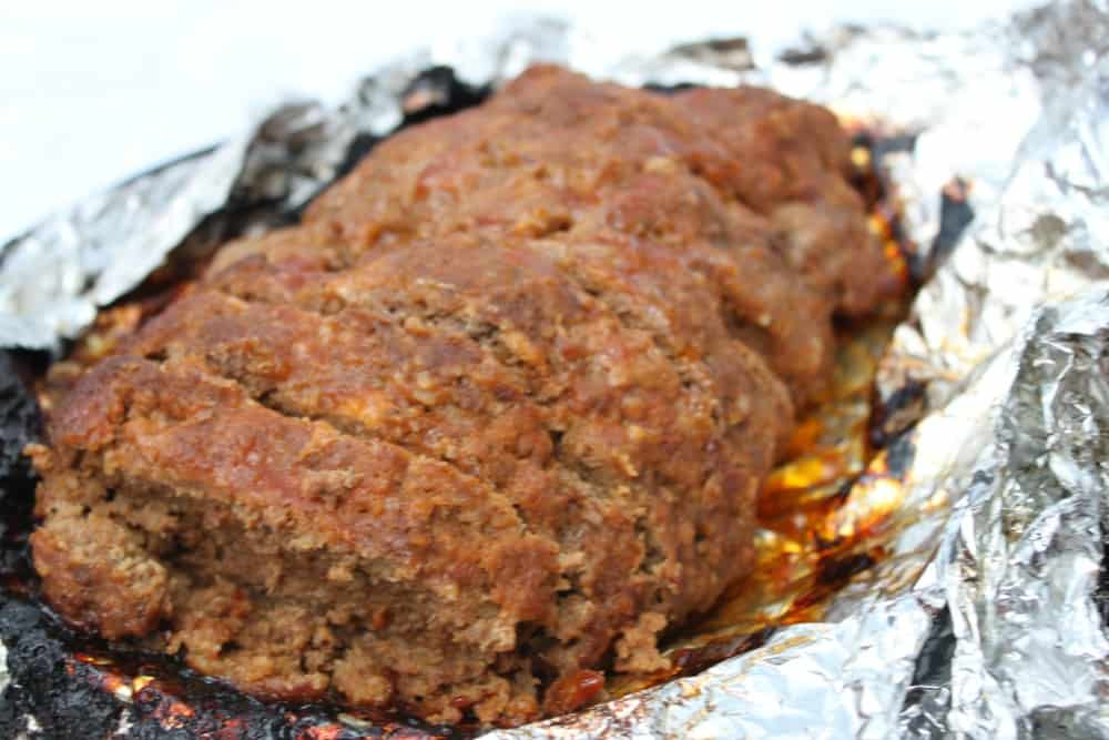 Sliced BBQ Meatloaf Grilled
