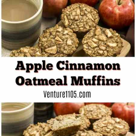 Apple Cinnamon Oatmeal Muffins Recipe on Venture1105