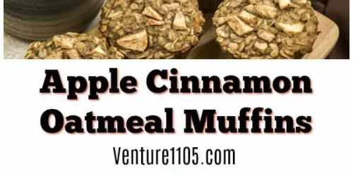 Apple Cinnamon Oatmeal Muffins Recipe on Venture1105