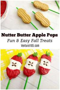 Nutter Butter Apple Pops – Easy Fall Treat