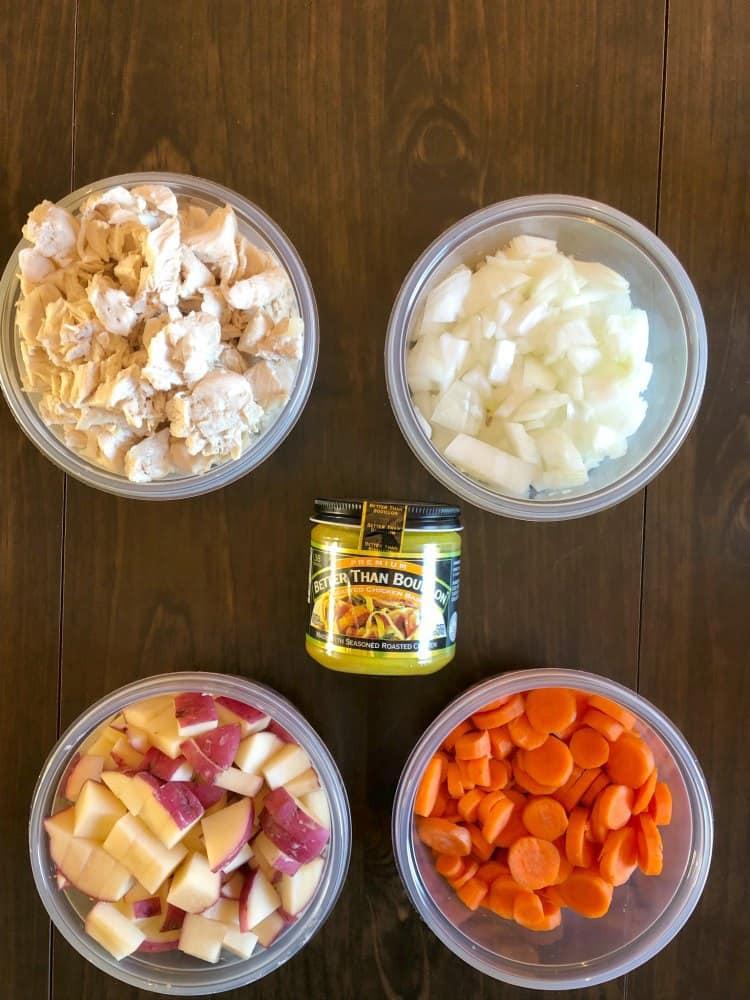 Slippery Pot Pie Ingredients