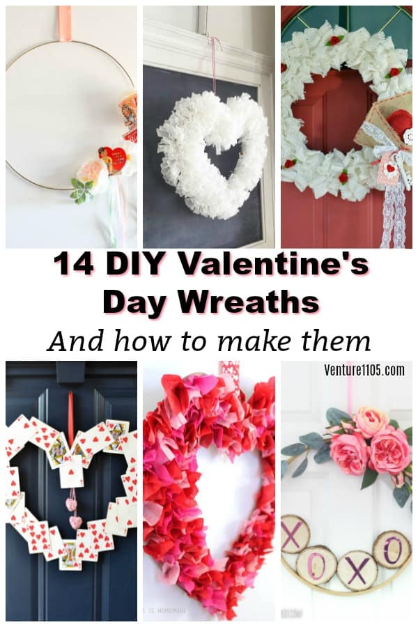 14 DIY Valentine's Day Wreaths and how to make them