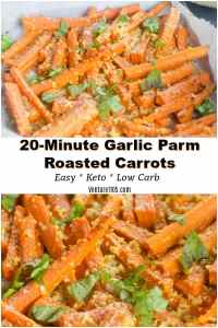 20-Minute Garlic Parmesan Roasted Carrots Recipe