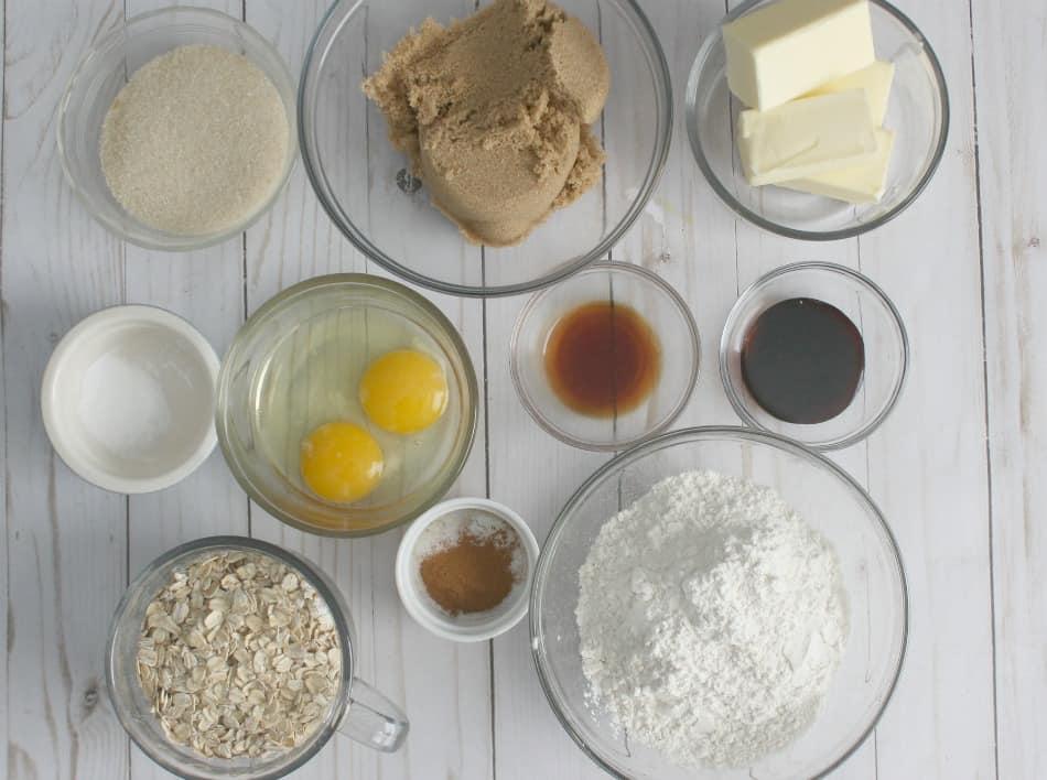 Oatmeal Cream Pie Ingredients